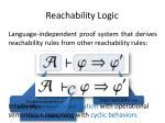 reachability logic