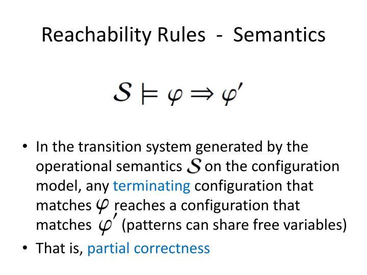 Reachability