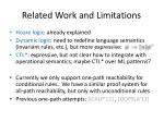 related work and limitations
