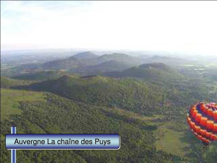 Auvergne La chaîne des Puys