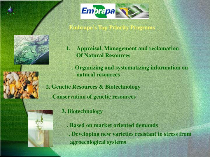 Embrapa's Top Priority Programs