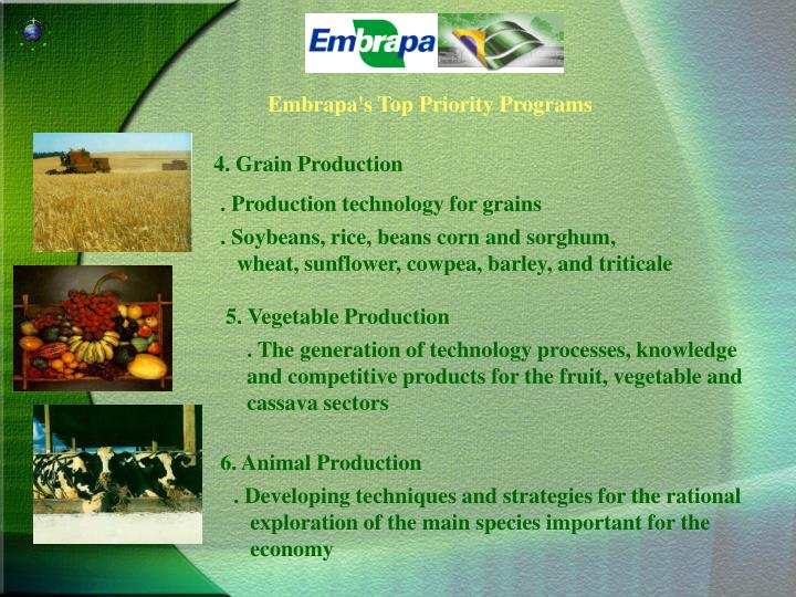5. Vegetable Production