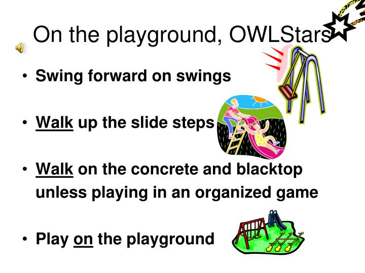 On the playground, OWLStars