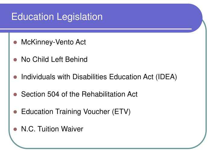 Education Legislation