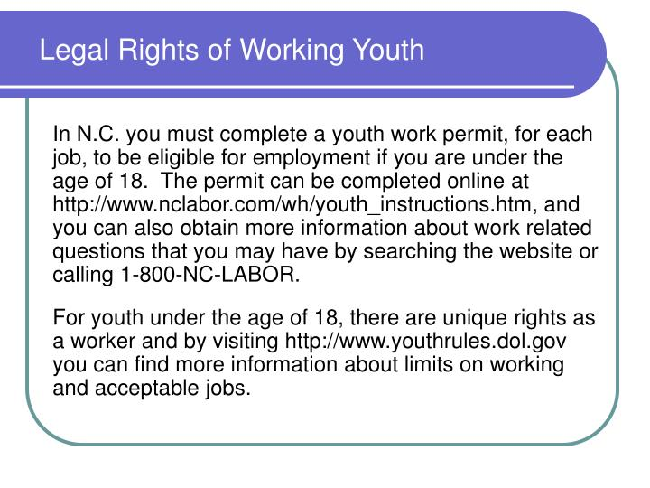 Legal Rights of Working Youth