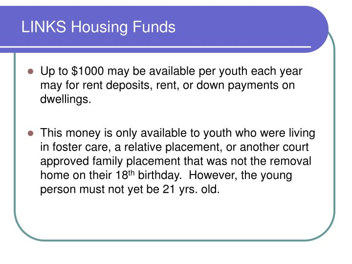 LINKS Housing Funds