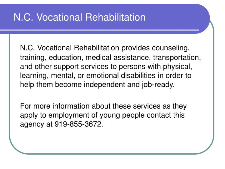N.C. Vocational Rehabilitation