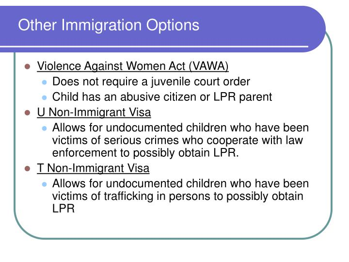 Other Immigration Options