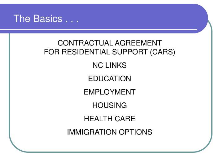 The Basics . . .