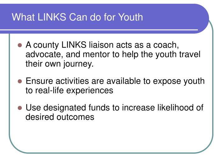 What LINKS Can do for Youth
