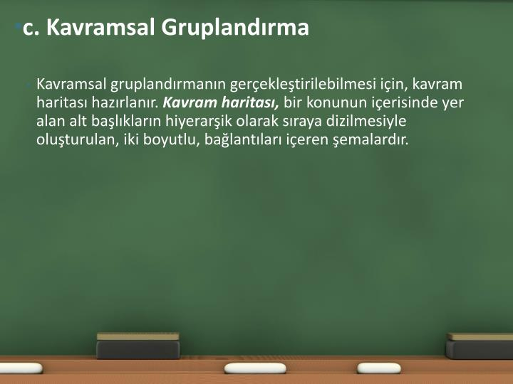 c. Kavramsal