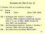 answers for set a no 2