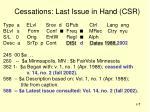 cessations last issue in hand csr1