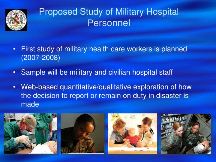 Proposed Study of Military Hospital P