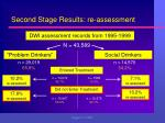 second stage results re assessment