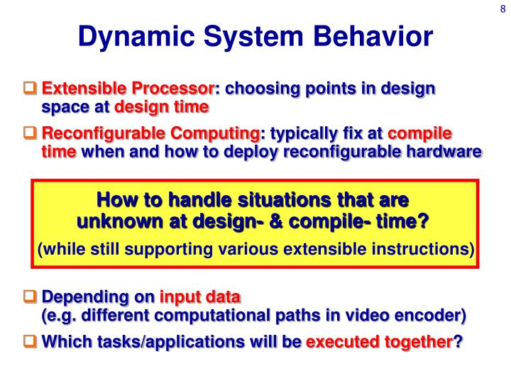 Dynamic System Behavior