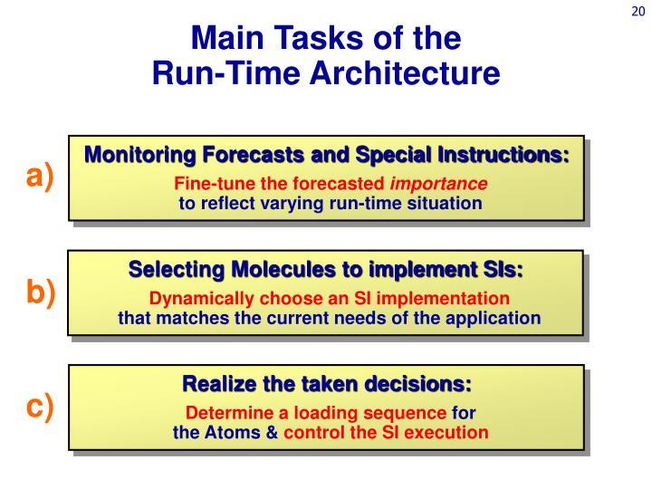Main Tasks of the