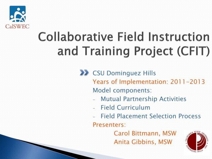 Collaborative field instruction and training project cfit