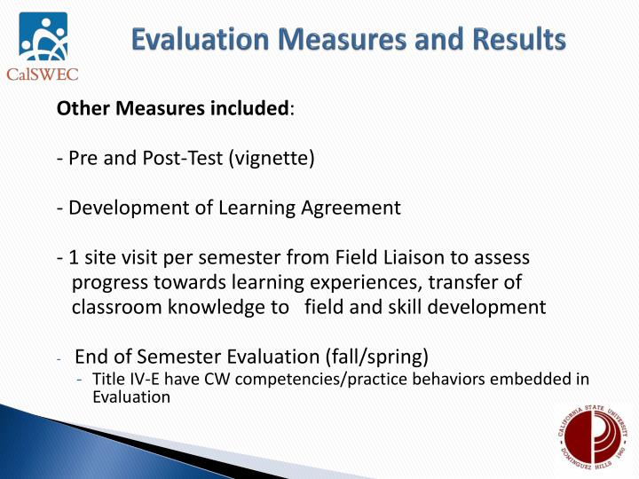 Evaluation Measures and Results