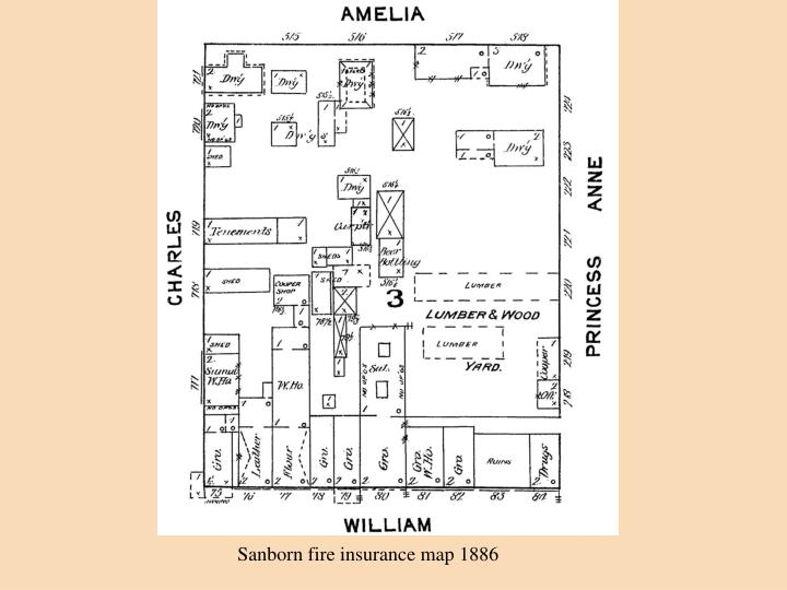 Sanborn fire insurance map 1886
