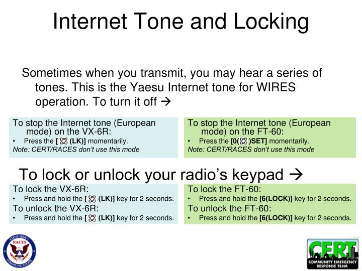 Internet Tone and Locking
