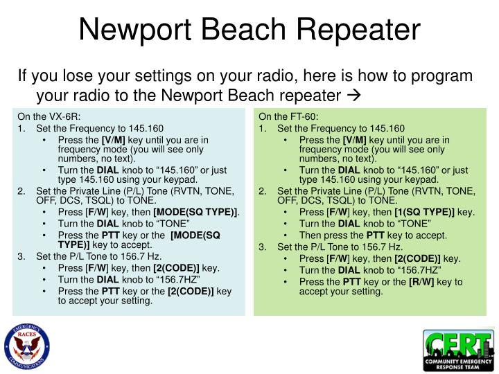 Newport Beach Repeater