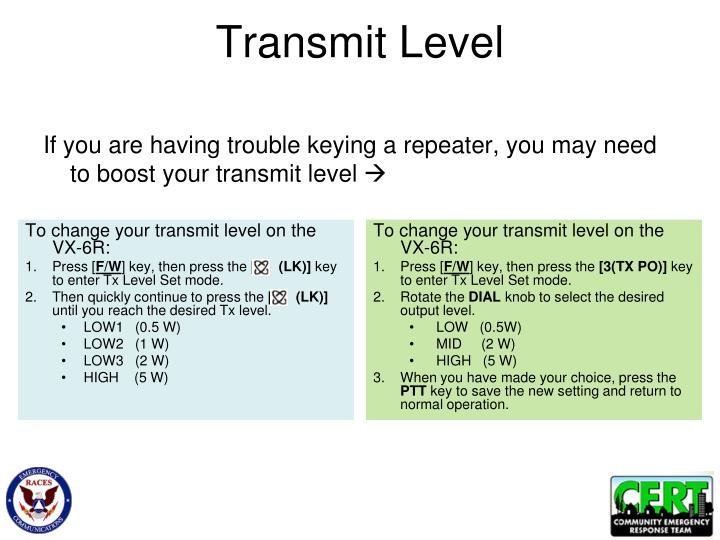 Transmit Level