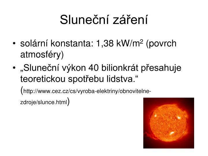 Sluneční záření