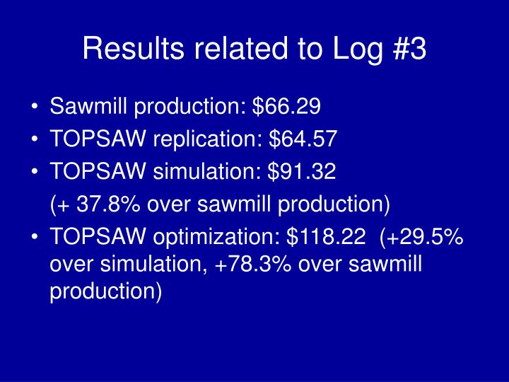 Results related to Log #3