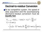 decimal to residue conversion