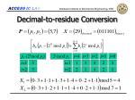 decimal to residue conversion1