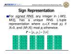 sign representation