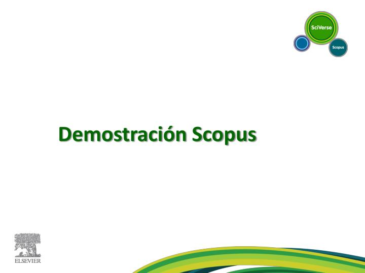 Demostración Scopus