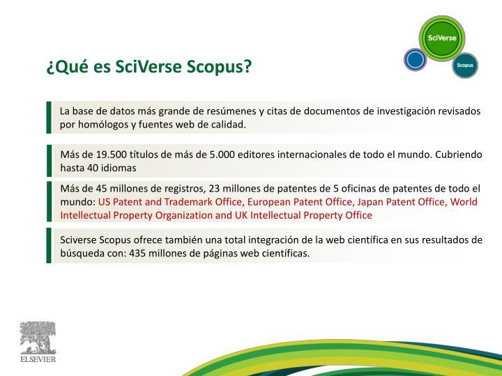 ¿Qué es SciVerse Scopus?
