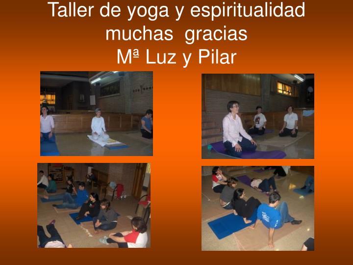 Taller de yoga y espiritualidad