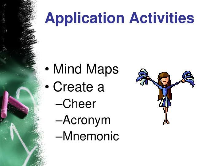 Application Activities