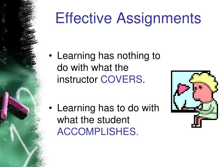 Effective Assignments