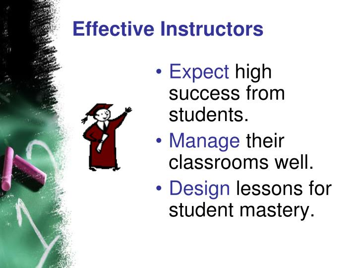 Effective Instructors