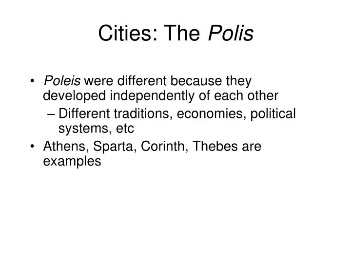 Cities: The