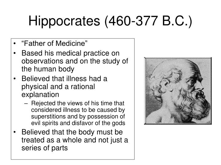 Hippocrates (460-377 B.C.)