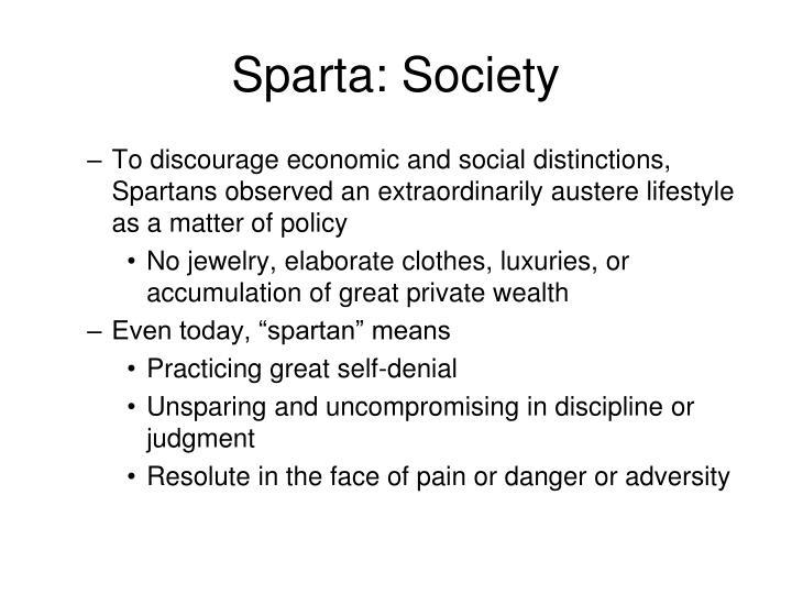 Sparta: Society