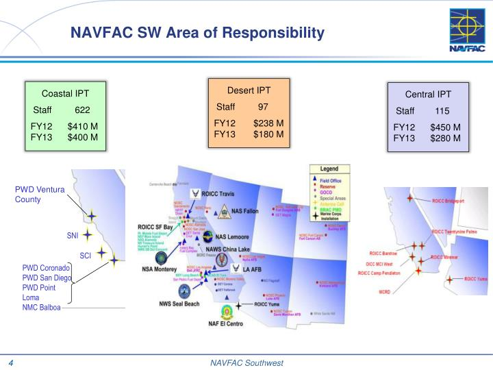 NAVFAC SW Area of Responsibility