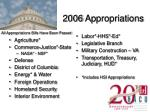 2006 appropriations