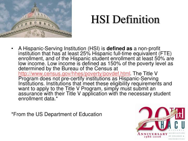 HSI Definition