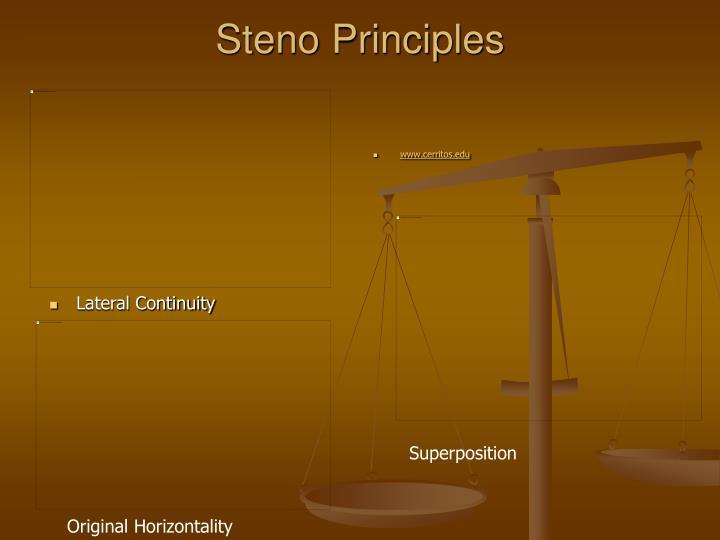 Steno Principles