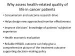 why assess health related quality of life in cancer patients