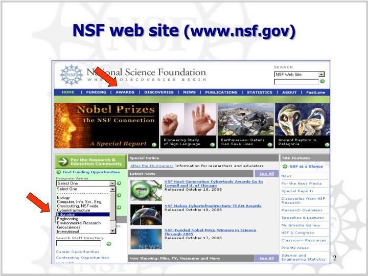 NSF web site