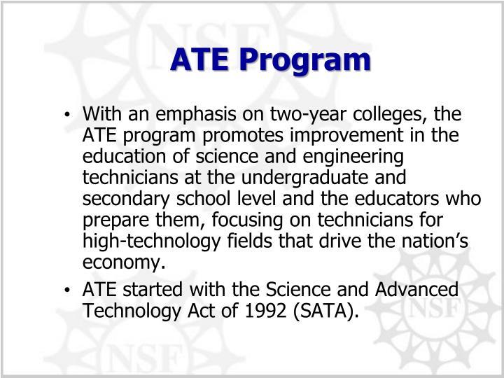 ATE Program