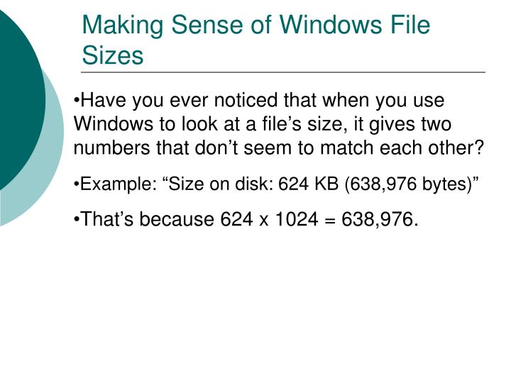 Making Sense of Windows File Sizes