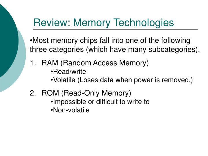 Review: Memory